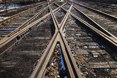 Rusted railway Stock Images