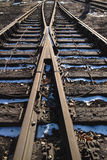 Rusted railway Stock Image
