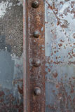 Rusted Rivets in Angle Iron Royalty Free Stock Images