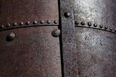 Rusted Rivets and Steel Plates Stock Photography