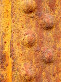 Rusted Rivetted Metal Royalty Free Stock Photos