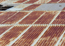 Rusted roof shingles. Rusted roof top shingles, copper colored Royalty Free Stock Photo