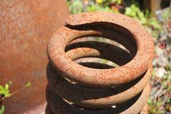 Rusted round metal Royalty Free Stock Photo