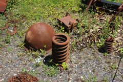 Rusted round metal Stock Images