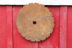 Rusted saw blade Royalty Free Stock Photo