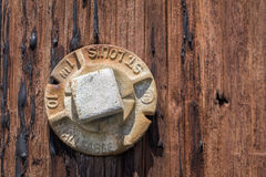 Rusted screw Stock Image