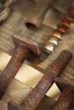 Rusted screws Stock Image