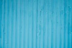 Rusted se descolora viejo fondo galvanizado azul de la hoja de metal Foto de archivo