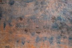 Rusted sheet of metal and grunge texture. royalty free stock image