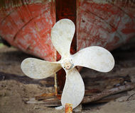 Rusted ship's propeller Royalty Free Stock Photo