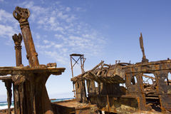 Rusted Shipwreck Royalty Free Stock Photography