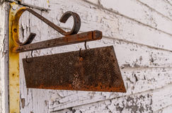 The rusted sign. Royalty Free Stock Photography