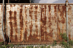 Rusted sliding gate stock photos