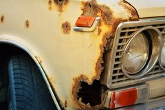 Rusted Soviet car. Royalty Free Stock Photography
