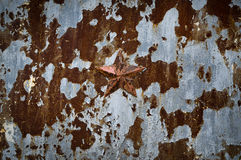 Rusted Soviet fence. Royalty Free Stock Photography