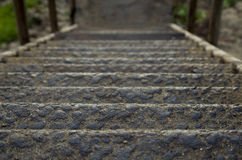 Rusted Stairs. Leading down to the beach Stock Image