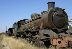 Rusted steam engine Stock Photos