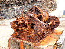 Rusted Steam Winch Royalty Free Stock Photography