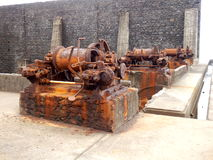 Rusted Steam Winches Royalty Free Stock Photo