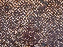 Rusted steel. Diamond plate pattern for background Royalty Free Stock Photography