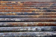 Rusted Steel. Rusted pipes of an old grilling pit photographed in mid afternoon Royalty Free Stock Images