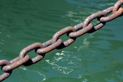Rusted Steel Chain Royalty Free Stock Images