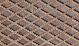 Rusted steel diamond plate background texture Royalty Free Stock Image