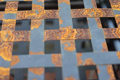 The rusted steel grating royalty free stock photos