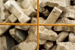 Rusted steel mesh Stock Images