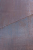 Rusted Steel Panel with Diagonal Seam Royalty Free Stock Photography