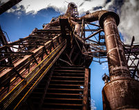 Rusted steel plant Stock Image