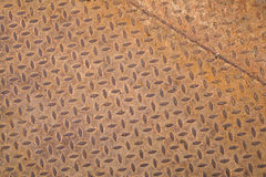 Rusted steel sheet with diamond pattern Stock Photography