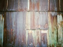 Rusted steel sheet wall texture background Royalty Free Stock Photos