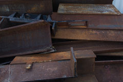 Rusted steel. Stow of rusted steel at construction site Royalty Free Stock Images
