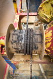 Rusted steel wire rope Boat equipment. Steel wire rope cable Royalty Free Stock Image