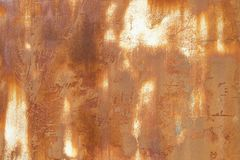 Rusted on surface of the old iron, Deterioration of the steel, Decay and grunge Stock Photos