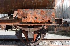 Rusted tanker wagon. In the scrapyard Stock Photos