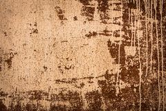 Rusted texture with dripping paint Stock Images