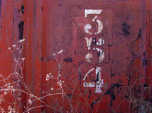 Rusted texture with numbers Royalty Free Stock Image