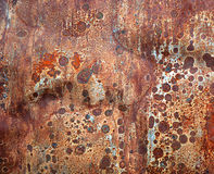 Rusted tin background Stock Image