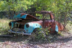 Rusted and To far gone. A rusted old car around an old mining site Stock Photography