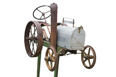 Rusted toy tractor mailbox Royalty Free Stock Image