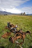 Rusted tractor. At abandond farm in Iceland Stock Photos