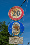 Rusted traffic sign Stock Photo