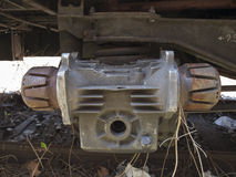 Rusted train part Royalty Free Stock Photo