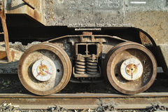 Rusted train wheel Royalty Free Stock Photo