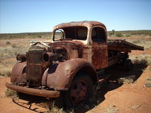 Rusted truck. Rusted pick up in the outback Royalty Free Stock Images