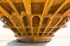 The rusted underside of a passenger ferry ramp Royalty Free Stock Photography