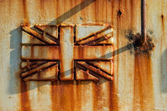 Rusted Union Jack Stock Images