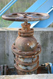 Rusted Valve 2. This is a closeup shot of big rusted valve on the water pump Stock Photography